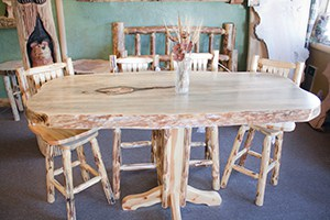 Morning Star Log Furniture, Hand Crafted! +1.530.258.3610 WebDirecting.Biz