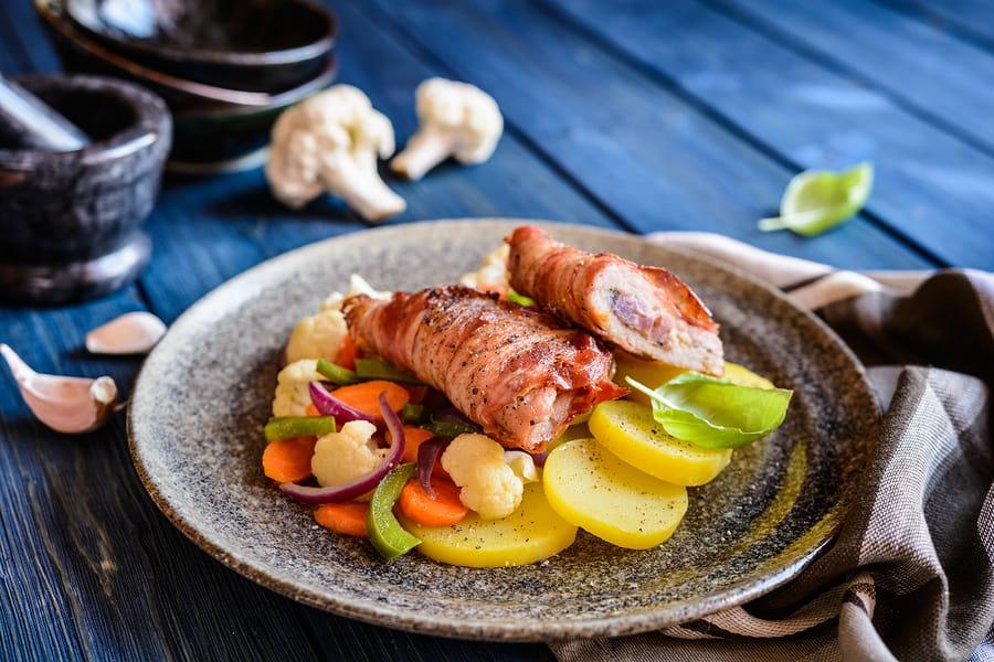 Asparagus Stuffed Pork Tender Loin