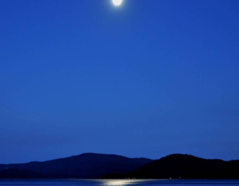 Moon Over Lake Almanor By Barbara Paape