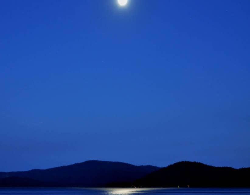 Moon Over Lake Almanor By Barbara Paape