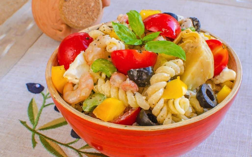 You Top It Off Shrimp and Pasta Salad