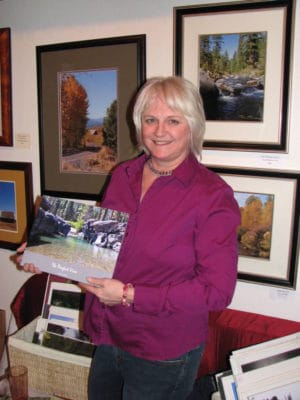 Pam Trebes with Photo Book