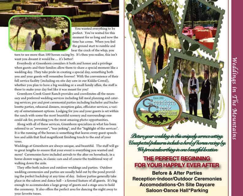 Greenhorn Guest Ranch 800-334-6939 Ranch Weddings Plumas County, Equestrian Weddings NorCal Horse Drawn Weddings