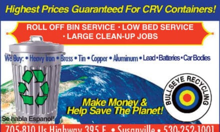 Bullseye Recycling Susanville Ca 530-252-1001 WebDirecting.Biz