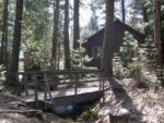 The bridge behind our cabin