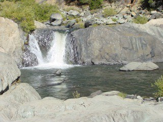 Indian Falls, waterfall Plumas County near Lake Almanor