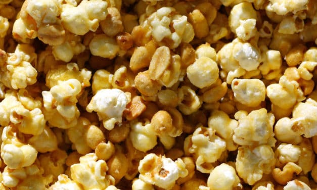 Candy Coated Popcorn with Extra Peanuts