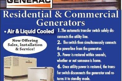 Keep The Light In Your Life With A Back Up Generator