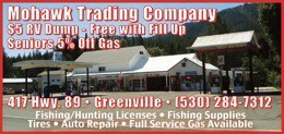 Mohawk Trading Company Greenville Ca 530-284-7312 Auto Repair Fishing License RV Dump WebDirecting.Biz