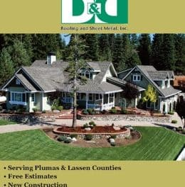 D&D Roofing and Sheet Metal Inc Susanville Ca 530-257-7226 WebDirecting.Biz