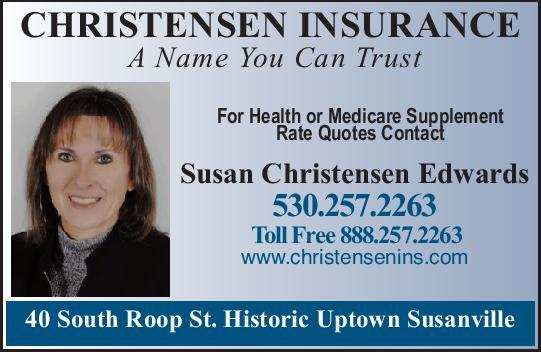Christensen Insurance Life, Auto, Home, Health Insurance Susanville Ca 530-257-2263 WebDirecting.Biz
