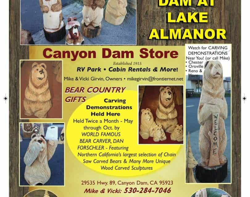 Canyon Dam Store Canyon Dam Ca 530-284-7046 Carved Bears Cabin Rentals RV Park WebDirecting.Biz