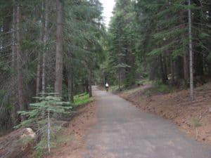 paved trail on lake almanor
