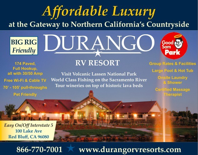 Durango RV Resort Red Bluff Ca 866-770-7001 RV Parks Tehema County, RV Parks Red Bluff, Tehema County Ca