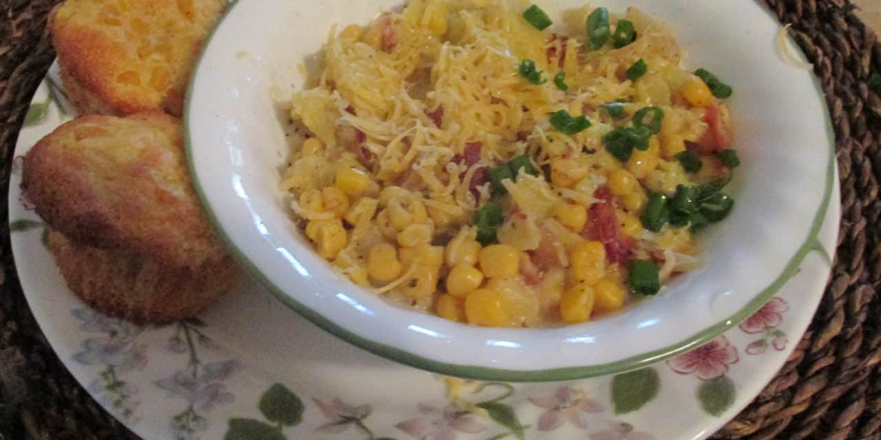 Homemade Corn Chowder with Bacon