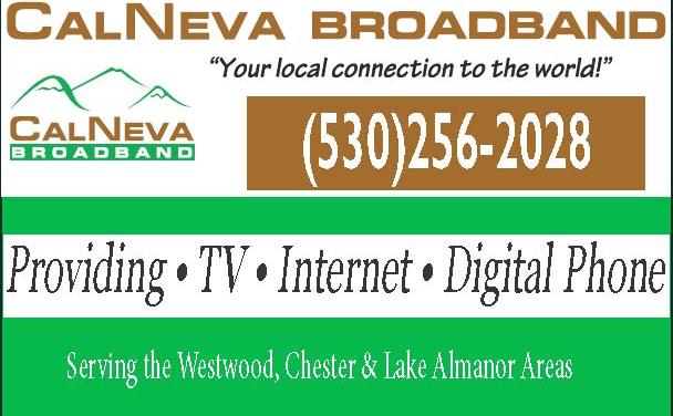 CalNeva Broadband, +1.530.256.2028, TV, Internet, Digital Phone, Westwood, CA  WebDirecting.biz