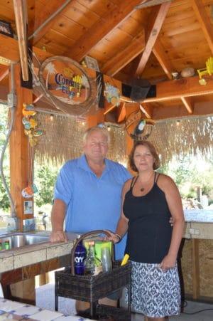 Bob and Linda Rouland at home