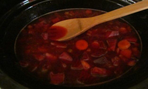 A Beautiful Christmas Soup Borscht