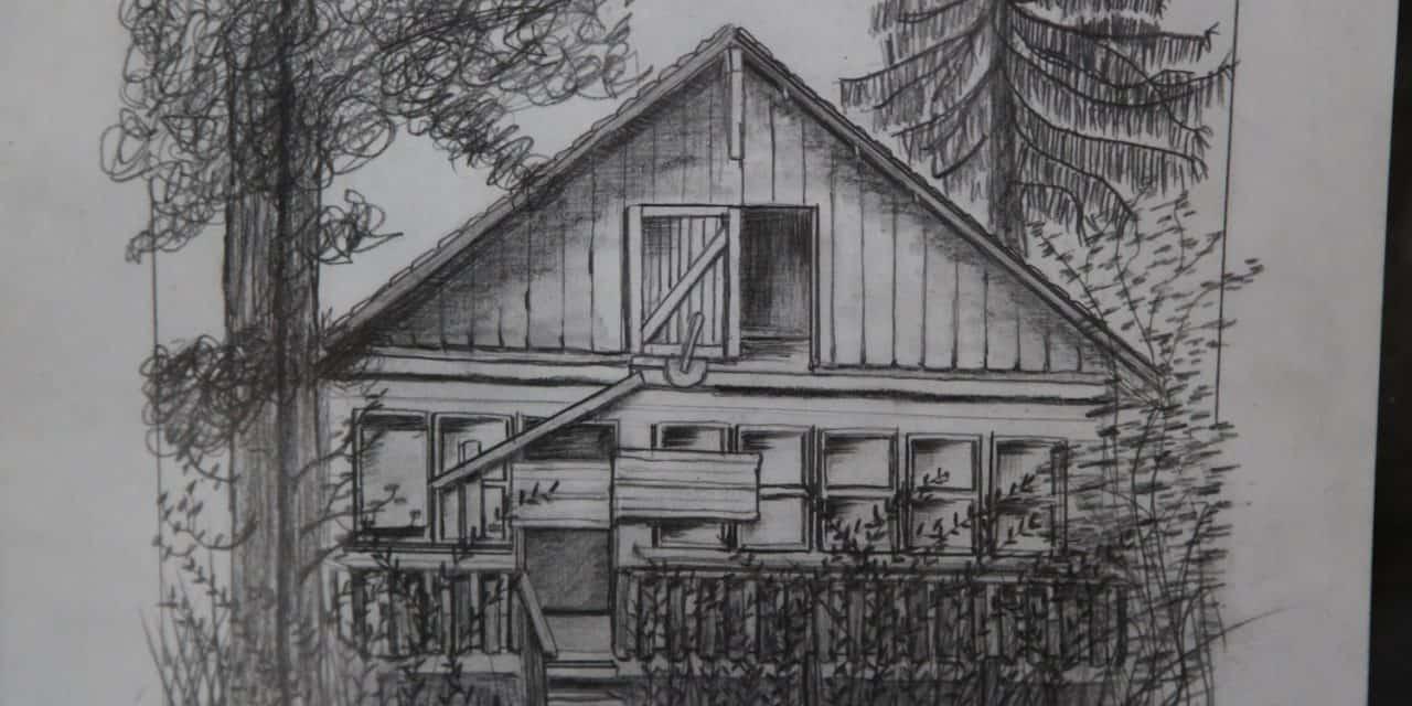 Carol Ross Sketch Artist and Diana Hackbarth Matching Birdhouse Builder