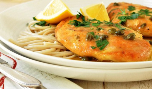 Recipes- Chicken Picatta Light, Quick & Delicious