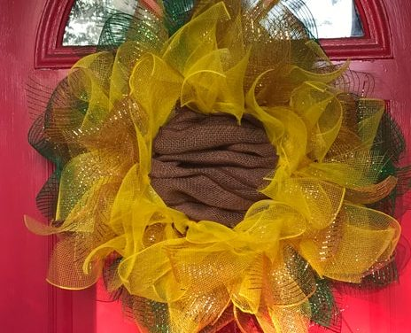 Art With Ashlee-Sunflower Door Wreath