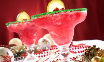 Blended Pomegranate Margaritas