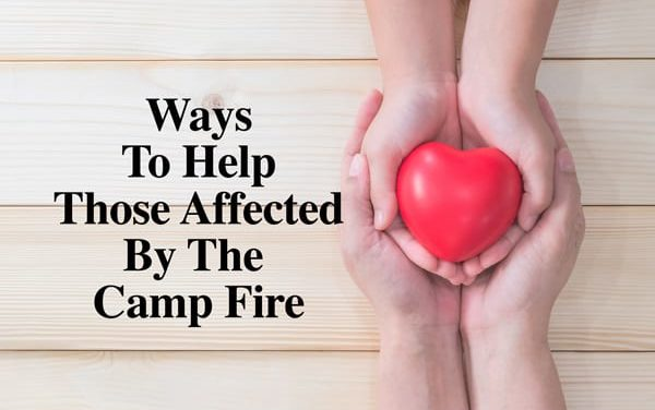 How To Help Those Displaced By The Camp Fire