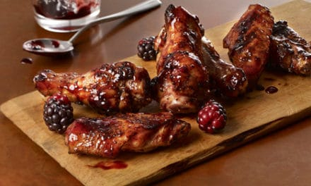 Sweet & Spicy Blackberry Hot Wings