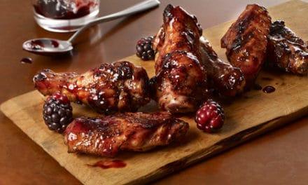 Sweet & Spicy Blackberry Hot Wings